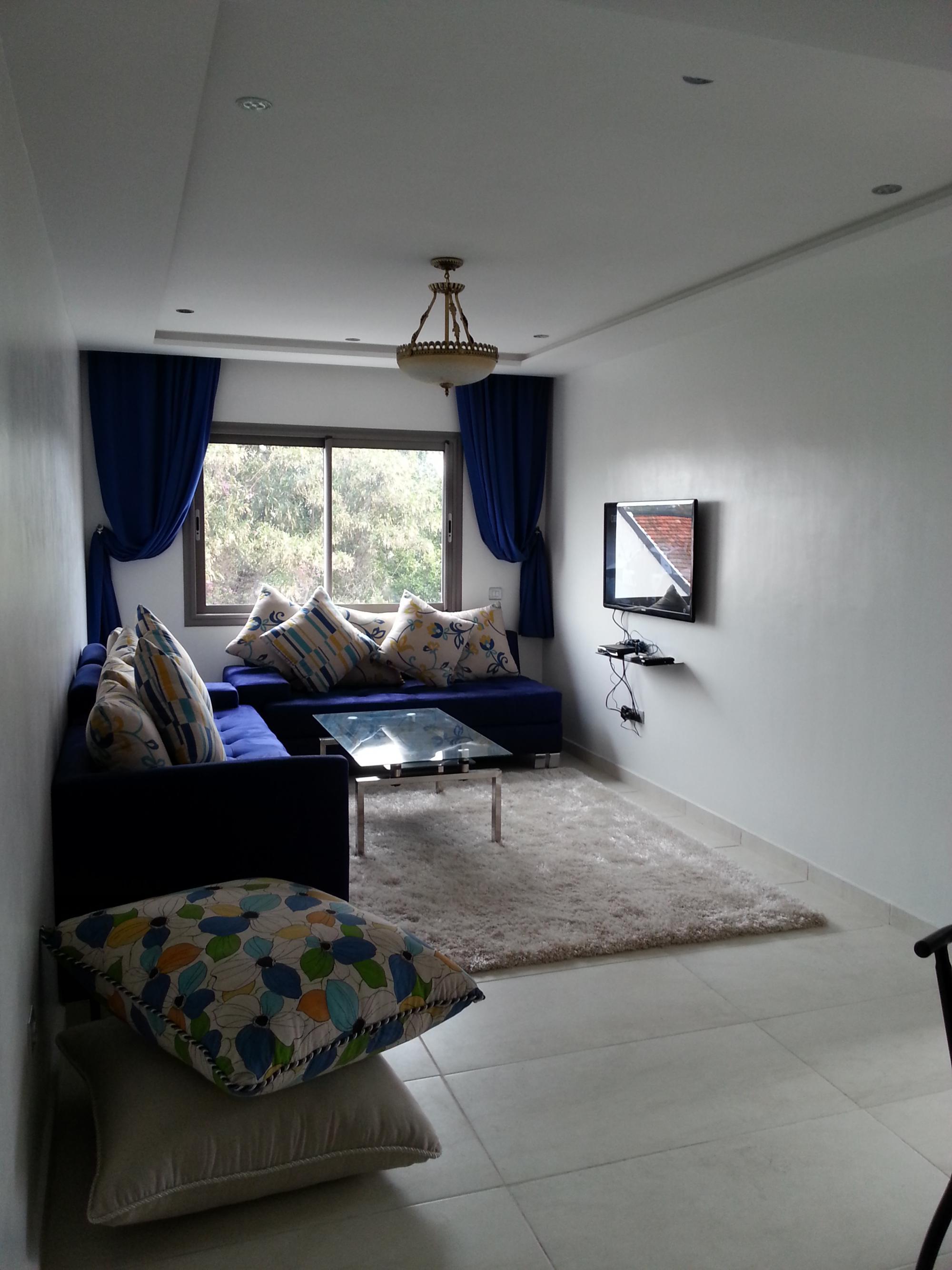 coquet appt meubl sans vis vis louer partir de 6500mad 50m properties cost. Black Bedroom Furniture Sets. Home Design Ideas